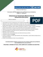 Prova-OTM III - SUPERVISÃO-Prova Objetiva