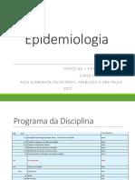 Epidemiologia e Aplicaciones- Aula 1