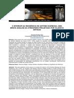 O interior da residência de Antônio Barbosa_ VILANOVA ARTIGAS
