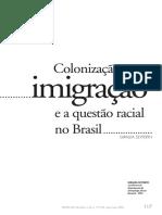 Giralda Seyferth - Colonização, imigração e questão racial no Brasil