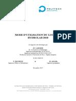 utilisation Hydrolab 2018