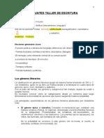 APUNTES TALLER DE ESCRITURA