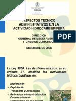 Aspectos tecnico Admnistrativos - Sector Hidrocarburos