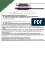 EDUCAÇÃO FÍSICA E SAÚDE- A.  F NA ADOLESCÊNCIA  RECUPERAÇÃO
