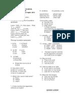 eval.diagnóstica 6o. 2013-onglés