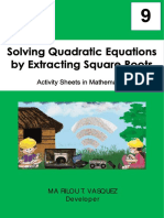 Passed 343-11-19 ABRA Solving Quadratic Equations by Extracting Square Roots