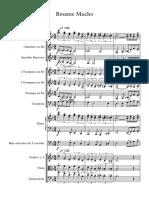Besame Mucho - score and parts