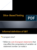 Lecture 13 slice based testing by jorgensen  [Autosaved]