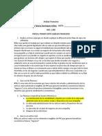 PARCIAL PRIMER CORTE ANÁLISIS FINANCIERO