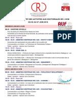 1 Programme des Doctoriales à l'UCM Juin 2019 FV