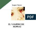 El vampiro de Ropraz - Jacques Chessex