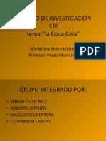 TRABAJO DE INVESTIGACIÓN de la coca cola
