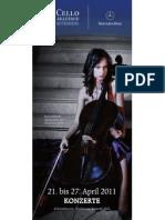 Cello Akademie Rutesheim 2011 Konzertflyer