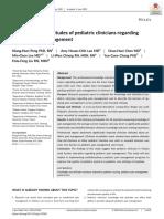Knowledge and attitudes of pediatric clinicians regarding pediatric pain management