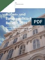 Außen- und Europapolitischer Bericht 2019