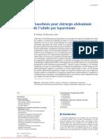 Anesthesie abdo -laparotomie