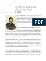 S.F. Alatas - On Eurocentrism and Laziness - The Thought of Jose Rizal
