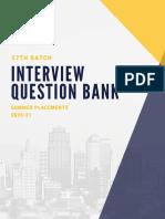 FinClub_57th Batch Interview Question Bank