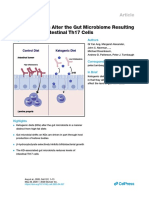 Ketogenic Diets Alter the Gut Microbiome Resulting in Decreased Intestinal Th17 Cells