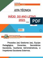 Nota Técnica - Início Do Ano Letivo de 2021