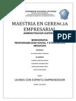 MONOGRAFIA RESP. SOCIAL Y ETICA EN LOS NEGOCIOS
