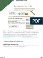 Fr Tanagra Data Manipulation Pandas