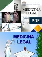 MEDICINA LEGAL 1ERA DIAPOSITIVA