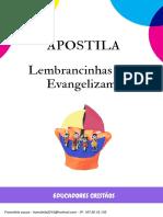 Apostila Lembrancinhas que Evangelizam