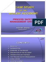 A CASE STUDY OF THE BOILER ACCIDENT,  Process Safety Management