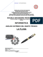 Análisis Sistémico de la Pluma de Tinta