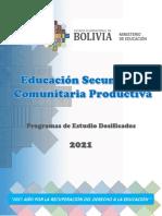Programa de Estudios Dosificados 2021