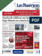 Portada de Diario Las Américas 12 de febrero