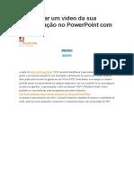 Como criar um vídeo da sua apresentação no PowerPoint com voz