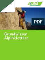 AVS Kurs GrundwissenAlpinklettern Web