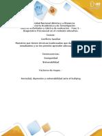 Guía de Actividades y Rúbrica de Evaluación - Fase 3 - Diagnóstico Psicosocial en El Contexto Educativo
