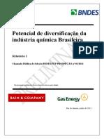 2011 BNDES - POTENCIAL DE DIVERSIFICAÇÃO DA INDUSTRIA QUIMICA BRASILEIRA - RELATORIO 1