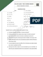 Equação do 1 grau - Exercícios