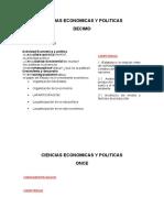 Ciencias Economicas y Politicas