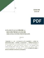 2520-89 GUIA DE EVALUACION DE LA GESTION TECNOLOGICA EN ORGANIZACIONES INDUSTRIALES