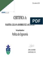 Certificado Poltica de Ergonoma 2