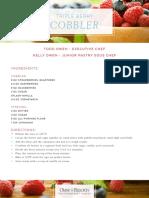 Triple Berry Cobbler Recipe