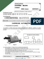 Devoir de Synthèse N°3 - Génie mécanique transmission de mouvement cadreuse automatique  - 3ème Technique (2013-2014) Mr mlaouhi slaheddine (1)