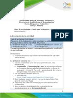 Guía de actividades y rúbrica de evaluación - Unidad 2 - Tarea 2 - Autoevaluacion