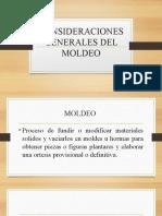 Consideraciones Generales Del Moldeo