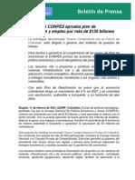 Boletín CONPES de Reactivación UV 11022021