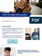 EXTERNAL - UHC Provider Directories - Choice and Diversity