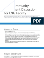 LNG Host Community Agreement Discussions for LNG Facility