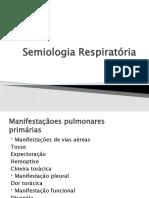 Semiologia Respiratória