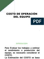 COSTOS DE OPERACION DE EQUIPOS