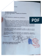 Renuncia Eduardo Pulgar